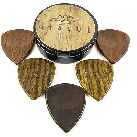 Mediators bois noble artisanal Eco responsable pour guitare acoustique électrique basse ukulélé Premium gratte guitar pick