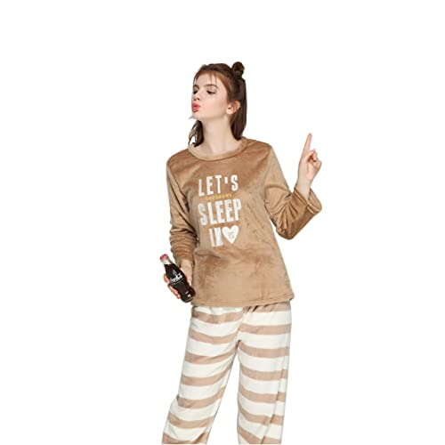 381147225009 Pahajim Womens Girls Home Lazy Cute Winter Flannels Pajamas Sleepwear  Nightgown Nightclothes Set