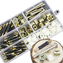 88PCS 3-in-1 Bolt nut Connection-Crib Screws,Wardrobe Splicing, Furniture and Chairs-Zinc Plated Hex Drive Socket Cap Furniture Barrel Screws Bolt Nuts Assortment Kit and Eccentric Wheel