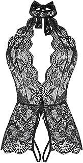 Women One Piece Lingerie Lace Baby Dolls Teddy Open Front Sleepwear Nightgown