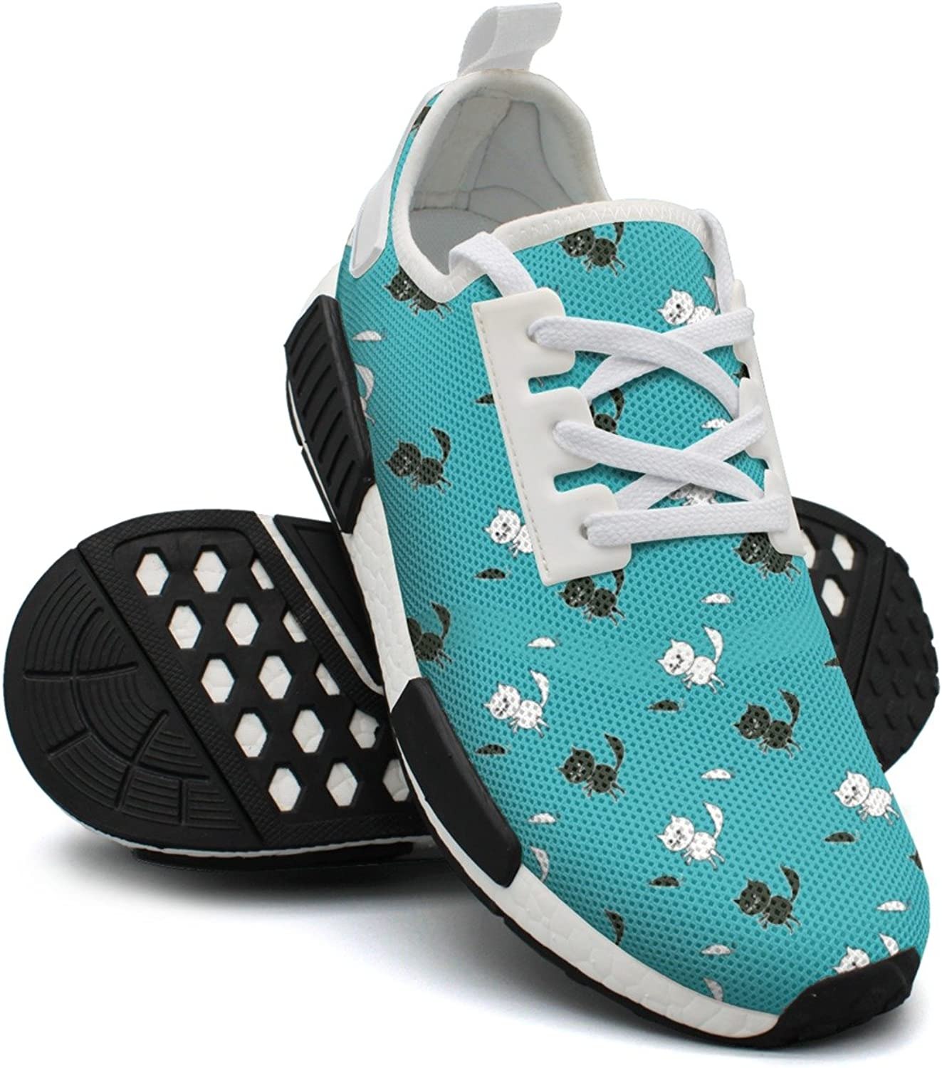 Cute Pattern with Cats and Mice Women's Designer Lightweight Sneaker Gym Outdoor Sports shoes