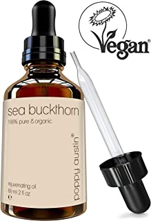 Sea Buckthorn Oil by Poppy Austin - Vegan Certified, Cruelty-Free, Pure & Organic - Finest Grade, Cold Pressed Sea Buckthorn Seed Oil for Hair & Skin, 2 oz