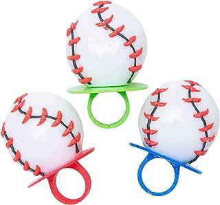 Baseball Shaped Sports Ring Pop Lollipops, 1.5 oz, 3 Packs of 3
