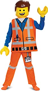 Disguise Emmet LEGO Movie 2 Deluxe Boys' Costume