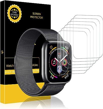 LK [6 Pack Pellicola Protettiva per Apple Watch 44mm Series 4 / 42mm [1/2 / 3], Wet Applied Protezione Schermo [Bubble-Free-Riutilizzabile] HD Clear Film in TPU con Garanzia di Sostituzione a Vita