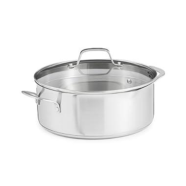 Calphalon Classic Stainless Steel Cookware, Dutch Oven, 5-quart