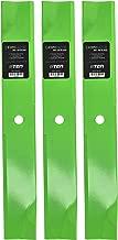 8TEN LawnRAZOR Blade Set for Ariens Gravely Ferris Bobcat 52 Inch Deck 04916400 1521227 112111-02 3 Pack Hi-Lift