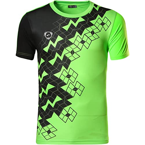 53e02c1a Jeansian Men's Sports Breathable Quick Dry Short Sleeve T-Shirts Tee Tops  Running Training LSL133