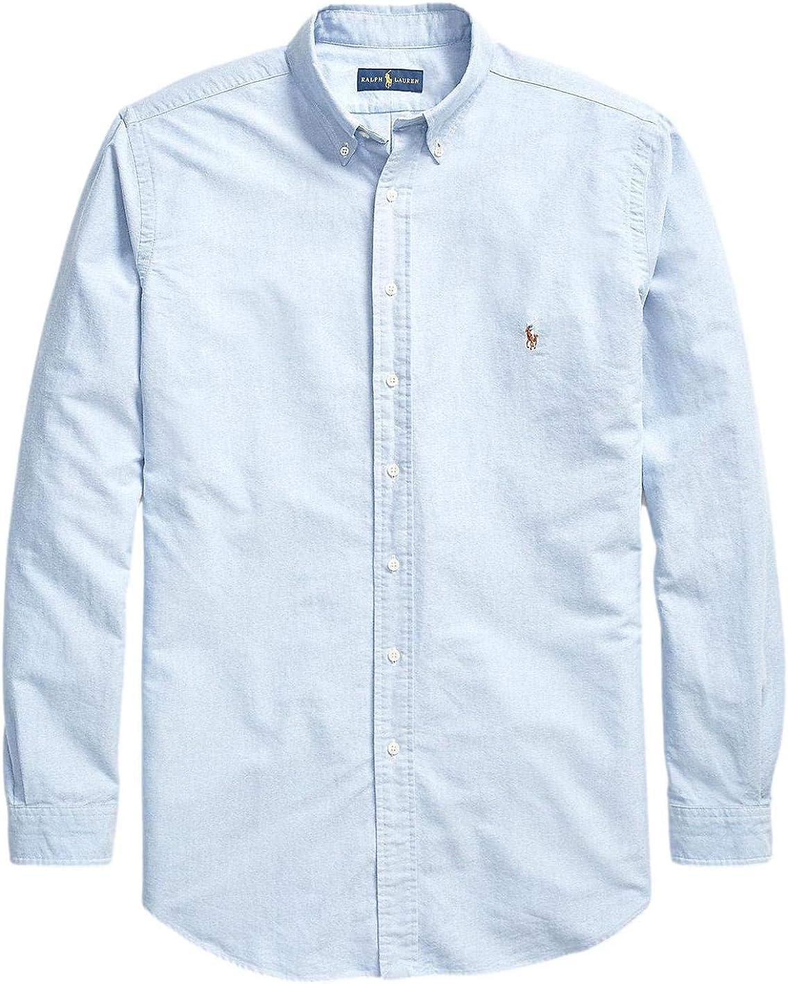 Polo Ralph Lauren Men's Big and Tall Long Sleeves Classic Fit Oxford Buttondown Shirt (3XLT, BSR Blue)