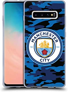 Official Manchester City Man City FC Dark Blue Moon Badge Camou Soft Gel Case Compatible for Samsung Galaxy S10+ / S10 Plus