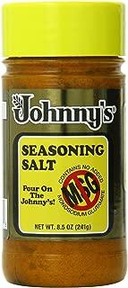 Johnny's Fine Food Seasoning Salt Bottle, 8.5 Ounce