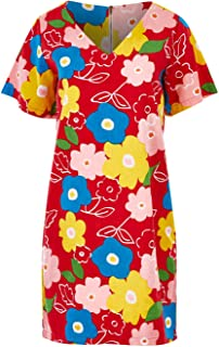That Bird Label Womens Short Dresses Dylan Shift Dress Popping Flower Red