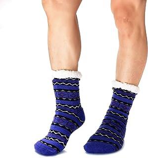 Calcetines hombre, con forro polar, cálidos, extra gruesos, para invierno, antideslizantes, para el hogar, para hombre