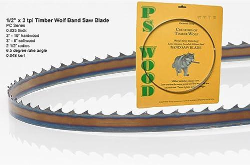 "high quality Timber Wolf outlet sale Bandsaw Blade 111"" x 1/2"" x 3 TPI Alternet 2021 Set outlet sale"