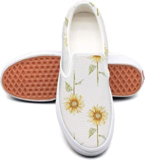 Vosda Young Women 3D Sunflower Stickers Gym Shoes Mens Shock Absorption Best Running Shoes