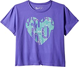 UA Hearts Logo Short Sleeve Tee (Big Kids)