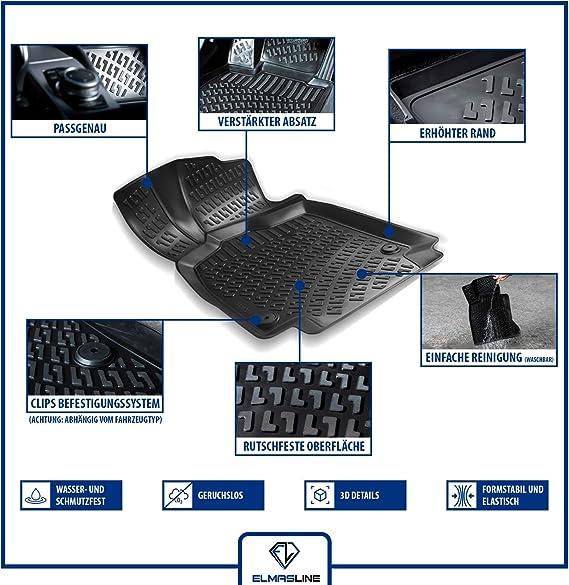 Elmasline Design 3d Gummimatten Set Für Bmw 1er E87 Baujahr 2003 2013 Extra Hoher 5cm Rand Auto