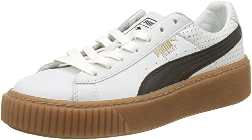 PUMA Basket Platform Perf Gum, Sneakers Basses Femme