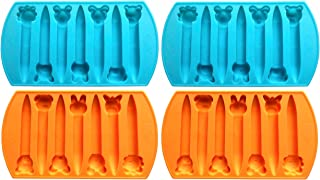 CrayOn 4 Animal Shaped Chunky Silicone Oven Safe Crayon Molds (Makes 28 Animal Crayons Total) by My Fruit Shack