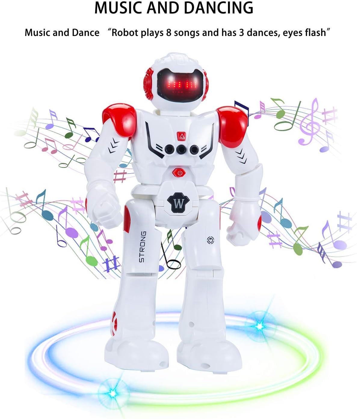 Roboter Kinder RC Fernbedienung Intelligenter Roboter Intelligente Programmierung Gestenerkennung Roboter Rot RC Spielzeug f/ür Kinder Jungen M/ädchen Geschenk SENYANG Roboter Kinderspielzeug