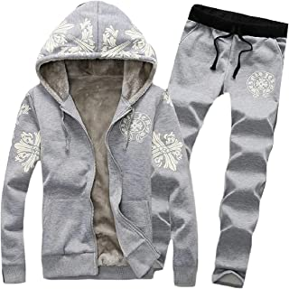 Sodossny-AU Mens Fashion Fleece Jacket and Sweatshirt Sport Tracksuit Outwear