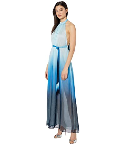 Jonathan Simkhai Ombre Halter Maxi Dress (Midnight Ombre) Women