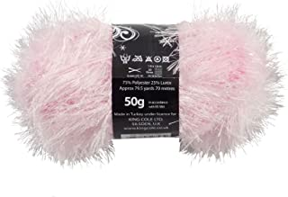 50g Ball of Tinsel Chunky Wool in Pale Pink