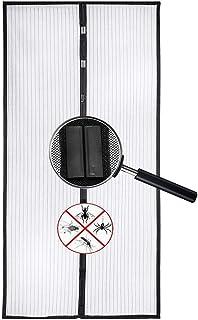 Voarge Magnetyczna moskitiera na drzwi, ochrona przed owadami, 80 x 210 cm, zasłona magnetyczna jest idealna na drzwi balk...