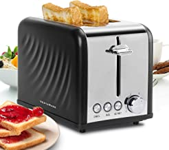 Vestaware Toaster 2 Slice, Stainless Steel 1.5'' Extra Wide Slot Toaster with Cancel, Bagel, Defrost Function, 6 Bread Shade Easy Clean Kitchen Toaster with Removable Crumb Tray