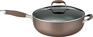 Anolon Advanced Bronze Hard-Anodized Nonstick 5-Quart Covered Chef Pan with Helper Handle