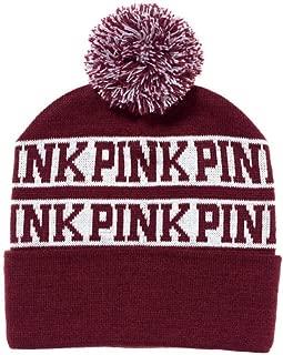 Victoria's Secret Pink Knit Beanie Maroon