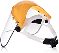 Katzco Clear Full Face Shield Visor Mask – Face And Head Coverage- Ideal For Automotive, Construction, General Manufacturing, Mining, Oil/Gas Uses