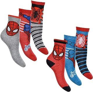 Spiderman Pack de 6 calcetines para niño con muchos diseños y diseños diferentes.