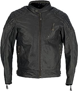 Richa Donington Mens Classic Leather Retro Motorcycle Bike Jacket - Black 54