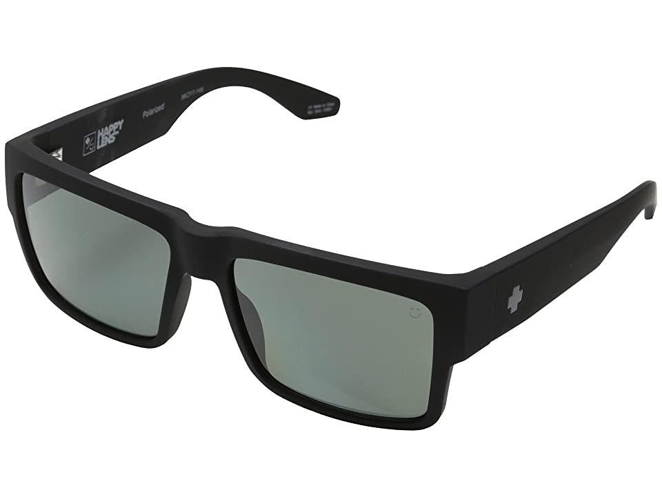 Spy Optic Cyrus (Soft Matte Black/Happy Grey Green Polar) Sport Sunglasses