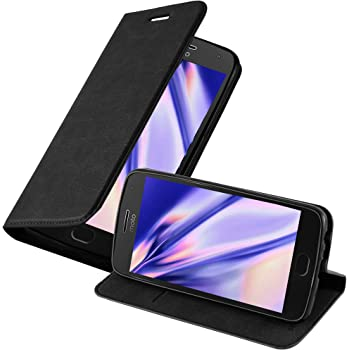 Cadorabo Funda Libro para Motorola Moto G5 Plus en Negro Antracita ...