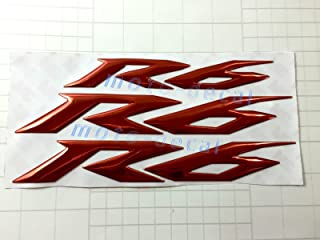 Decal Story 3D Emblem Sticker Decal Red Raise Up Polish Gloss For Yamaha YZF R6