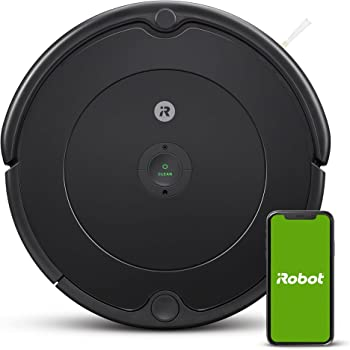 iRobot - Robot aspirador Roomba 692 Wifi, para alfombras y suelos, Dirt Detect, Sistema de limpieza en 3 fases, Smart Home y control App, Sugerencias personalizadas, Compatible con asistentes voz