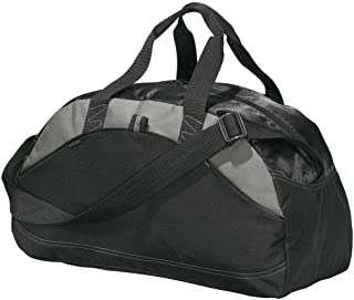 Port & Company Small Contrast Duffel, Black, One Size