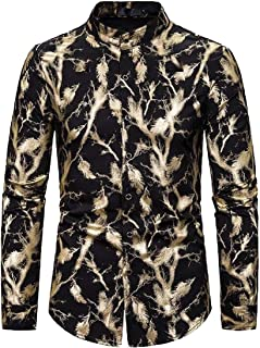 Abeaicoc Mens Long Sleeve Blouse Casual Casual Printing Shirts Blouse Blouse Pattern Lapel