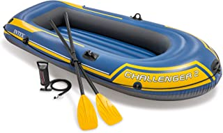 Intex Challenger 2, 2-Person Inflatable Boat Set with French Oars and High Output Air..