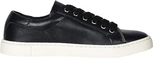 Black Smooth Polished Leather