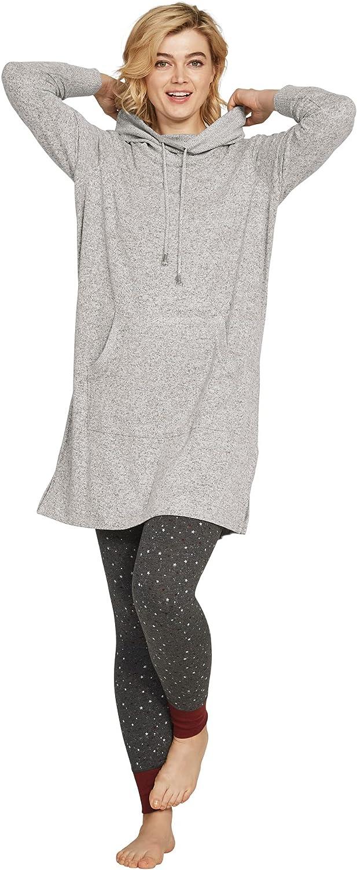 ellos Women's Plus Size Funnel-Neck Lounge Sweatshirt Tunic
