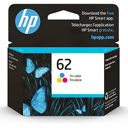 HP 62   Ink Cartridge   Tri-color   Works with HP ENVY 5500 Series, 5600 Series, 7600 Series, HP OfficeJet 200, 250, 258, 5700 Series, 8040   C2P06AN