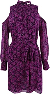 Michael Kors Michael Women's Star-Print Cold-Shoulder Dress,
