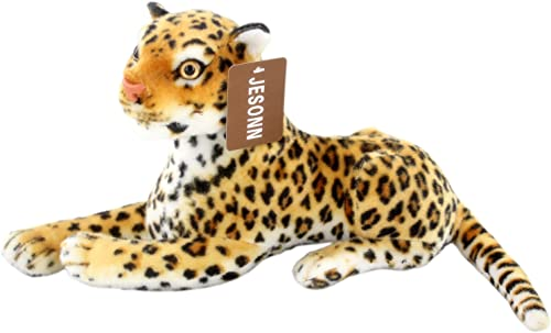 Jesonn Realistic Stuffed Toy Animals Spotted Leopard Calf Plush for Enfants' Birthdays Gifts,12 or 30CM,1PC