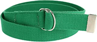 CTM Cotton Web Belt with D Ring Buckle