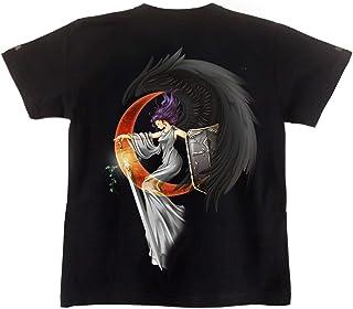 [GENJU] Tシャツ 天使 堕天使 翼 羽 前面無地版 メンズ