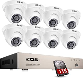 ZOSI 8 Channel H.265+ 1080P Home CCTV Security Camera Systems 2MP DVR with 8 Cameras 1080P Motion Detection Smart Window A...