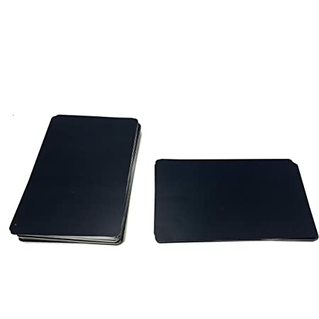 Malayan - 50 PACK Aluminum Business Card Blanks - Laser Engraver and CNC Engraving Color Options Available (black)
